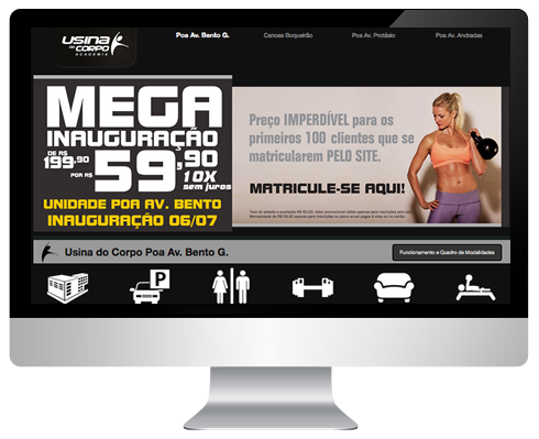 Hot-Site Usina do Corpo